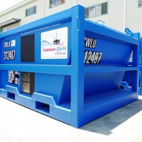 5 ton mud cutting container skip
