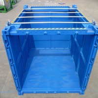 open face blue container
