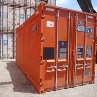 high cube container orange
