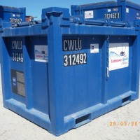blue tool box container