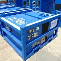 blue mud cutting skip container