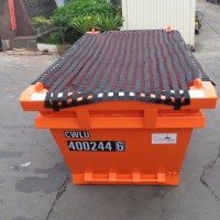 netted-orange-skip-container